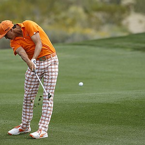 Rickie Fowler during his 2014 WGC-Accenture Match Play consolation win against Ernie Els.