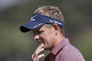 Luke Donald during pro-am day at the PGA Tour's 2014 Honda Classic at PGA National in Palm Beach Gardens, Fla.