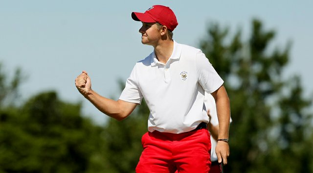 Patrick Rodgers, shown here at the 2013 Walker Cup, is the new world No. 1 amateur.