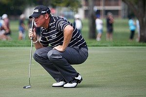 Lee Westwood during Friday's second round of the PGA Tour's Honda Classic at PGA National in Palm Beach Gardens, Fla.