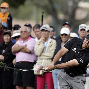 Phil Mickelson during Friday's second round of the PGA Tour's Honda Classic at PGA National in Palm Beach Gardens, Fla.