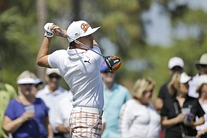 Rickie Fowler during Sunday's final round at the PGA Tour's 2014 Honda Classic at PGA National in Palm Beach Gardens, Fla.