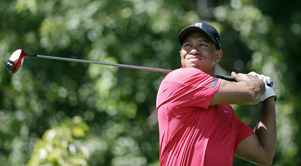Tiger Woods during the final round of the Honda Classic. Woods withdrew Sunday citing a bad back.