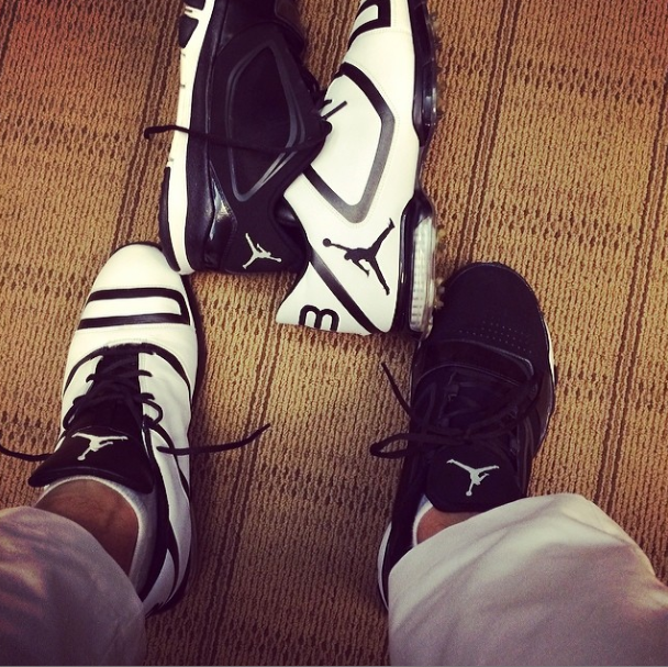 Keegan Bradley wore Air Jordan's during the Honda Classic.