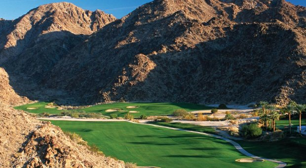 The 15th hole at La Quinta Resort's Mountain course in Palm Springs, Calif.