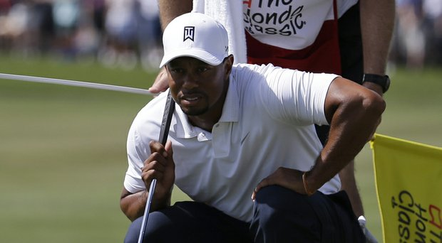 Tiger Woods a day before WD'ing during the PGA Tour's 2014 Honda Classic at PGA National in Palm Beach Gardens, Fla.