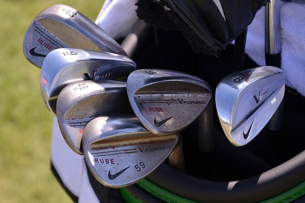 Nick Watney, whose nickname is Rube, uses Nike's VR Pro Blade irons and VR Forged wedges.