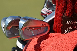 Spain's Miguel Angel Jimenez has a bag full of Ping S55 irons.