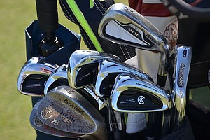 Keegan Bradley uses Cleveland CG7 Tour irons, but also has a Cleveland 588 TT 3-iron.