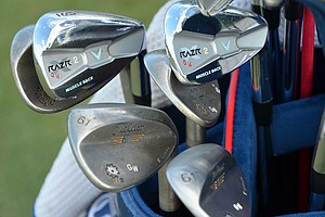 Gary Woodland's Callaway Razr X Muscleback irons has received plenty of custom paint.
