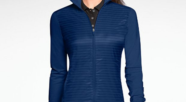 Nike Golf's Full-Zip Stripe Women's Cover-Up comes in four different colors.