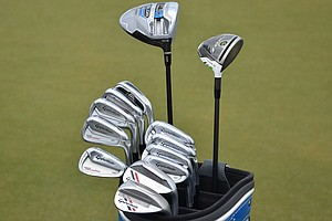 Before withdrawing due to a thumb injury, Jason Day was using these TaylorMade Tour Preferred MC irons and SLDR driver.