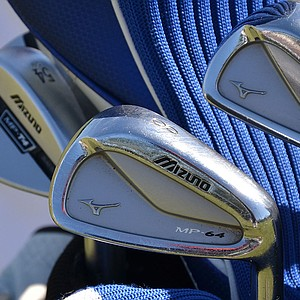 Luke Donald, one of the PGA Tour's best iron players, switched to these Mizuno MP-64 irons last season.