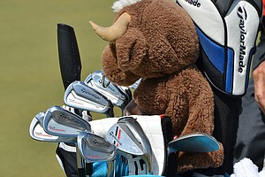 Sergio Garcia's TaylorMade Tour Preferred MC irons are guarded by a bull which covers his driver.