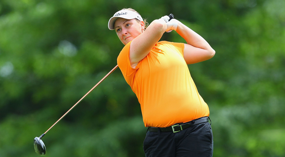 LPGA player Lisa Ferrero was diagnosed with breast cancer on Jan. 8 at age 31. On Valentine's Day, she had a mastectomy to remove a tumor that was 9 centimeters.