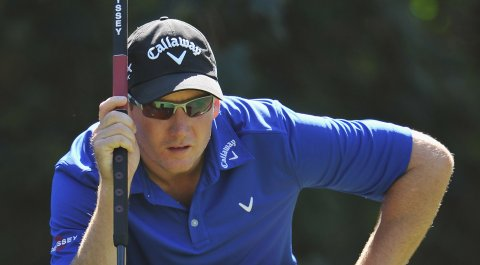 Garth Mulroy shares the first-round lead at the Web.com Tour's Chile Classic.