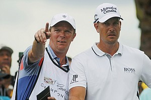 Henrik Stenson during the first round of the WGC-Cadillac Championship at Trump National Doral.