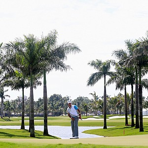 Hideki Matsuyama during the first round of the WGC-Cadillac Championship at Trump National Doral.
