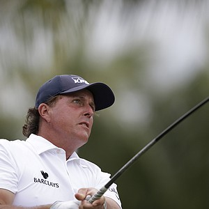 Phil Mickelson during the first round of the WGC-Cadillac Championship at Trump National Doral.