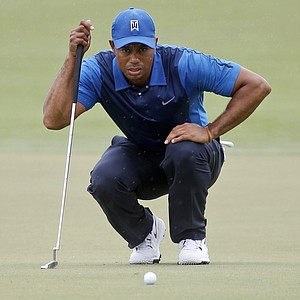 Tiger Woods during the first round of the WGC-Cadillac Championship at Trump National Doral.