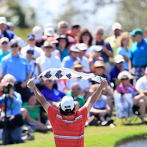 Jason Dufner during the second round of the WGC-Cadillac Championship at Trump National Doral.