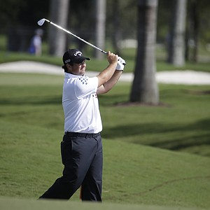 Patrick Reed during the completion of the first round Friday at the WGC-Cadillac Championship at Trump National Doral.