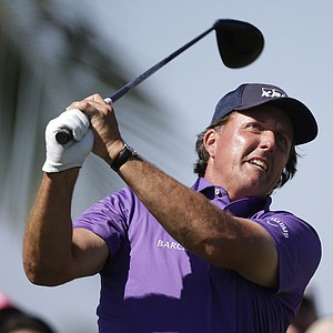 Phil Mickelson during the third round of the WGC-Cadillac Championship at Trump National Doral.