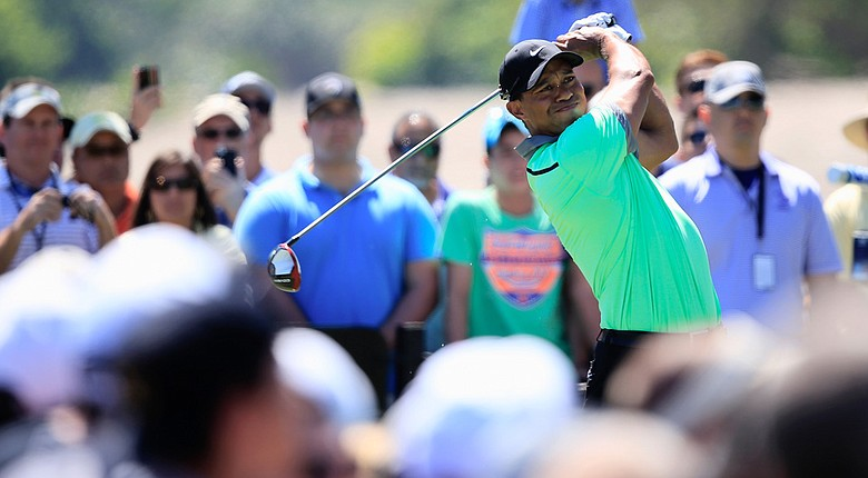 Tiger Woods during the third round of the WGC-Cadillac Championship at Trump National Doral.