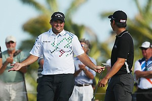 Patrick Reed during the second round of the 2014 WGC-Cadillac Championship at Trump National Doral.