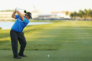 Patrick Reed during the third round of the 2014 WGC-Cadillac Championship at Trump National Doral.