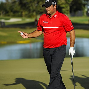 Patrick Reed during the final round of the 2014 WGC-Cadillac Championship at Trump National Doral.