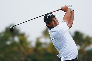 Patrick Reed during the first round of the 2014 WGC-Cadillac Championship at Trump National Doral.