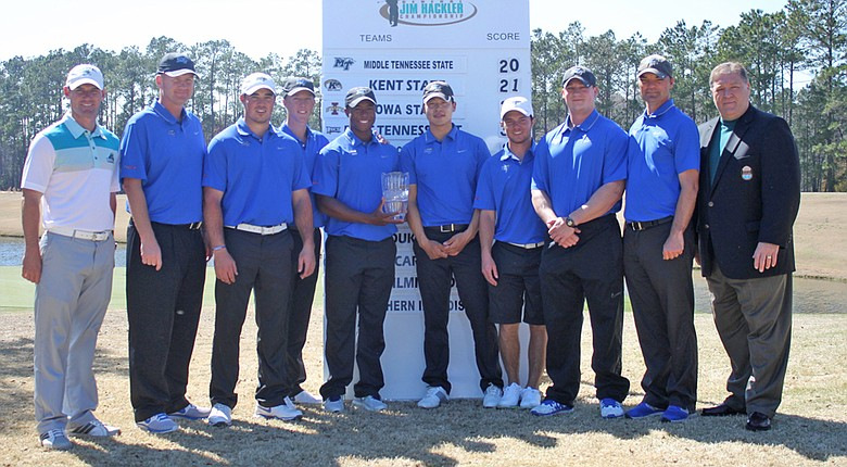Middle Tennessee State after winning the 2014 General Hackler Championship.