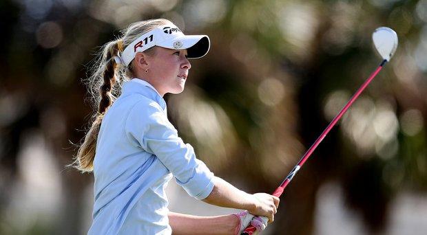 Nelly Korda, 15, won the 2014 Kathy Whitworth Invitational in a playoff.