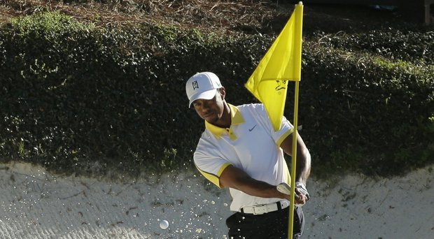 Tiger Woods is listed as the 2014 Masters favorite by oddsmakers at the Las Vegas Hilton (Woods is shown here at Augusta National last year).