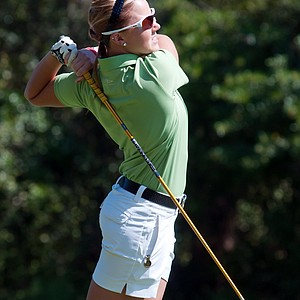 Ashtyn Brown in action on the golf course.