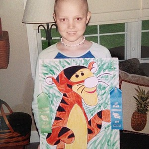 Ashtyn Brown's Tigger painting she created for her fifth-grade art fair.