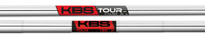 The KBS C-Taper and Tour 130 shafts.