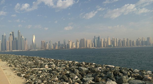 On his way to a tournament in South Africa, Brad Dalke made a stop in Dubai to check out this skyline.