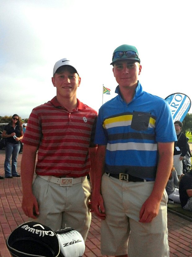 Brad Dalke and Stefan Bogason of Iceland at the Curro South Africa International Junior.
