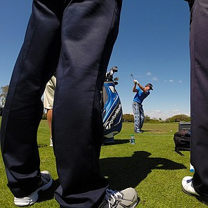 Brian Gay hits balls on the practice range at Arnold Palmer Invitational on Tuesday Bay Hill Lodge and Club.