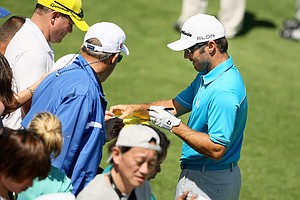 Trevor Immelman signs autographs at the Arnold Palmer Invitational on Tuesday Bay Hill Lodge and Club.