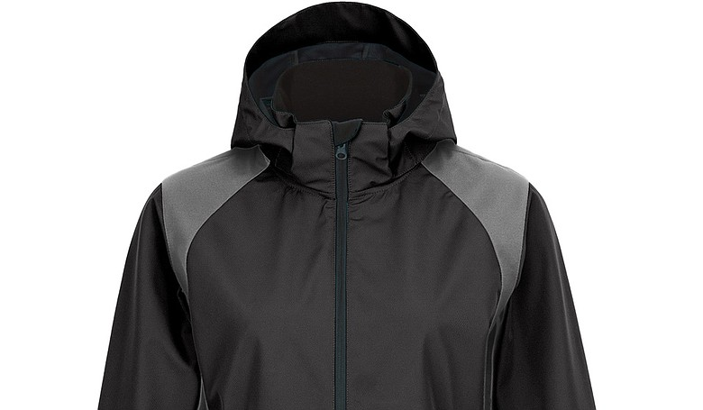 Fila Golf's Rockingham Performance Jacket in black and silver.