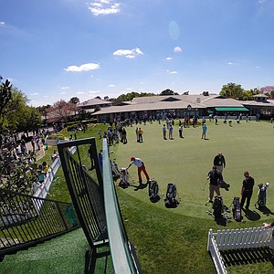 A view of the practice putting green at the Arnold Palmer Invitational on Tuesday Bay Hill Lodge and Club.