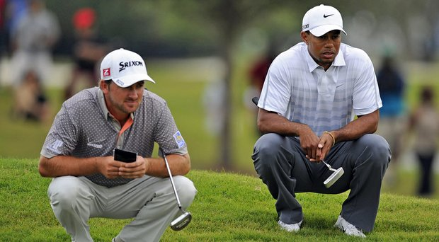 Graeme McDowell (left), Tiger Woods and Harris English (not pictured) will be paired together for the opening two rounds of the Arnold Palmer Invitational at Bay Hill.
