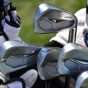 Billy Horschel had his Ping S55 irons decorated in orange and blue to celebrate his beloved University of Florida.