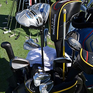 Brandt Snedeker, who plays Bridgestone's J40 Cavity Back irons, tested some TaylorMade SLDR drivers on Tuesday.