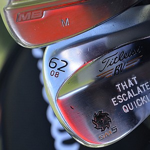 Morgan Hoffmann's Titleist Vokey Design SM5 lob wedge lets you know exactly what it's designed to do.