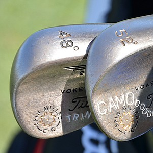 Cameron Tringale's Titleist Vokey Design wedge has his nickname stamped on it.