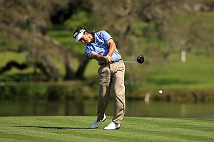 Gonzalo Fernandez-Castano hits his tee shot at No. 16 during the Arnold Palmer Invitational during Round 1 at Bay Hill Lodge and Club.